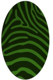 rug #1124555 | oval light-green rug