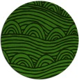rug #1124663 | round green abstract rug
