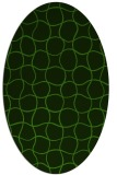 rug #1124695 | oval light-green check rug