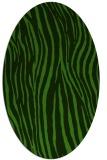 rug #1124795 | oval light-green stripes rug