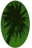 rug #1124895   oval green abstract rug