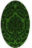 rug #1124935 | oval green traditional rug