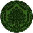 rug #1124943 | round light-green damask rug