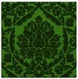 rug #1124951 | square green damask rug