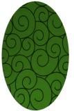 rug #1125015 | oval green circles rug