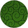 rug #1125023 | round green circles rug