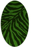 rug #1125075 | oval light-green rug