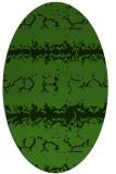 rug #1125295 | oval green animal rug