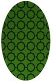 rug #1125435 | oval light-green circles rug