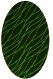 rug #1125535 | oval light-green rug