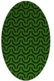 rug #1125575 | oval light-green rug