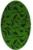 rug #1125595 | oval light-green rug