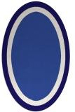 rug #112561 | oval plain blue-violet rug