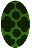 rug #1125795 | oval light-green rug