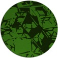 rug #1125843 | round green abstract rug