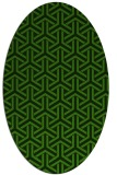 rug #1125895 | oval light-green rug