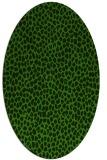 rug #1125955 | oval light-green animal rug