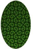 rug #1125975 | oval green traditional rug