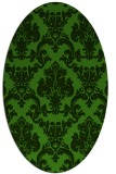 rug #1125995 | oval light-green rug
