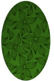 rug #1126015 | oval light-green rug