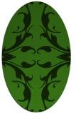 rug #1126055 | oval light-green damask rug