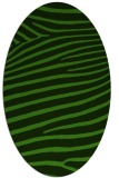rug #1126195 | oval light-green rug