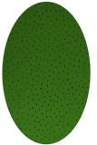 rug #1126235 | oval green animal rug