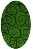 rug #1126355 | oval green circles rug