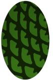 rug #1126395 | oval light-green rug