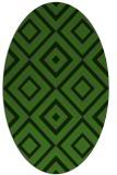 rug #1126415 | oval green geometry rug