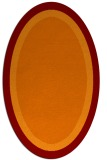 rug #112645 | oval plain red-orange rug
