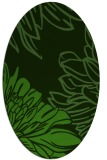 rug #1126475 | oval light-green rug