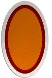 rug #112649 | oval orange borders rug