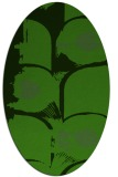rug #1126535 | oval green abstract rug