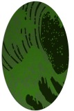 rug #1126555 | oval light-green rug
