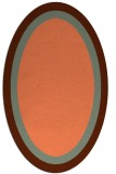 rug #112657 | oval plain red-orange rug