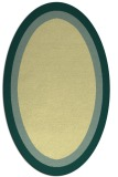 rug #112661 | oval blue-green rug