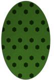 rug #1126635 | oval light-green popular rug