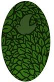 rug #1126655 | oval light-green animal rug