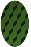 rug #1126715 | oval light-green rug