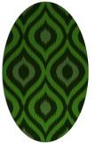 rug #1126755 | oval green animal rug