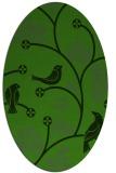 rug #1126895 | oval light-green rug
