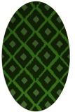 rug #1126995   oval green animal rug