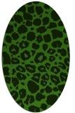 rug #1127195 | oval light-green animal rug