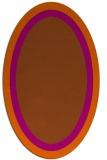 rug #112721   oval plain red-orange rug