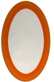 rug #112725 | oval plain red-orange rug