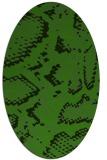 rug #1127275   oval green animal rug