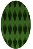 rug #1127295 | oval light-green rug