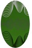 rug #1127355 | oval green circles rug