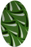 rug #1127435 | oval light-green rug